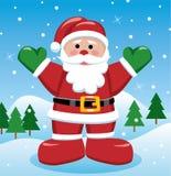 Xmas background with santa. Vector xmas holiday background with santa stock illustration