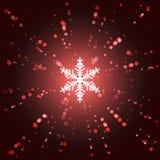 Xmas background. Snowflake in the center, confetti stock illustration