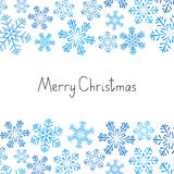Xmas background with snowflakes Royalty Free Stock Photos