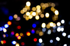 Xmas background street lights glam Royalty Free Stock Photos