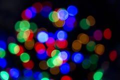 Xmas background street lights glam Stock Photo