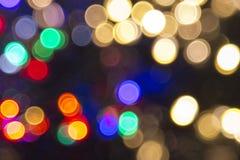Xmas background street lights glam Stock Image