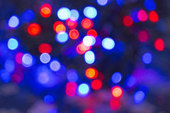 Xmas background street lights glam. Blur lights christmas background on black Royalty Free Stock Photo