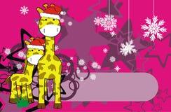 Xmas background1 Giraffe Стоковые Фото