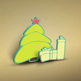 Xmas badge Royalty Free Stock Image