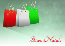 Xmas bag italy Royalty Free Stock Photography