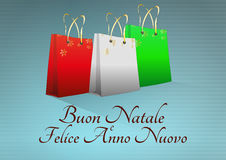 Xmas bag italy Royalty Free Stock Image