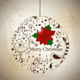 Xmas ball. Vector xmas reeting card with abstract ball Royalty Free Stock Photo