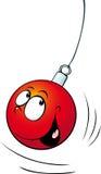 Xmas ball funny vector decoration  - illustration Royalty Free Stock Photos