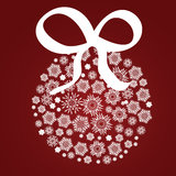 Xmas ball of snowflake Stock Photo