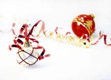 Xmas balls. Christmas ornaments, on a white background Stock Photo