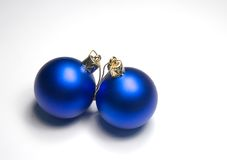 Xmas balls. Two christmas balls Stock Photo