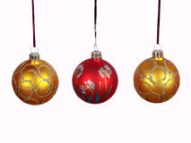 Xmas  balls Stock Photos
