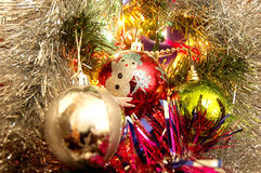 The xmas balls. The xmass and new year balls royalty free stock photo