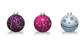 Xmas balls. On the white background Royalty Free Illustration