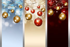 Xmas Balls Banners Stock Photography