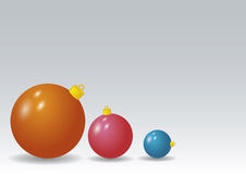 Xmas balls. Christmas elements used for decorative purposes stock illustration