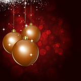 Xmas Balls Dark Red Celebration Background Royalty Free Stock Image