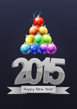 2015 xmas balls. Illustration of 2015 text with christmas balls vector illustration