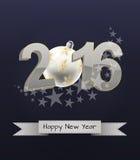 2016 xmas balls Royalty Free Stock Photos