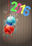 2016 xmas balls Royalty Free Stock Image