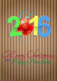 2016 xmas balls. Illustration of 2016 text with christmas balls Stock Images