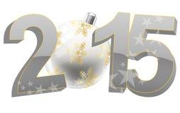 2015 xmas balls. Illustration of 2015 text with christmas ball Stock Photo