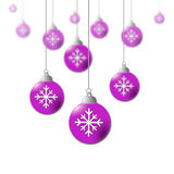 Xmas Balls Means New Year And Bauble Royalty Free Stock Images