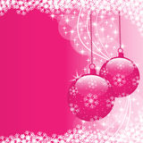 Xmas balls pink Stock Photos