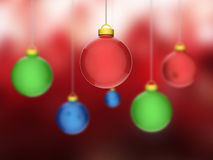 Xmas Balls Represents Blank Space And Bauble Stock Photo