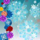Xmas Balls Shows Christmas Ornament And Backdrop Stock Images