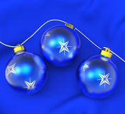 Xmas Balls Shows Merry Christmas And Baubles Royalty Free Stock Photography