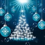 Xmas Balls Shows Merry Christmas And Baubles Stock Photos
