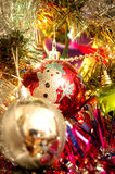 Xmas balls on tree. The xmas balls on tree, new year royalty free stock photography
