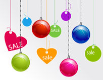 Xmas balls and vignettes Royalty Free Stock Photo