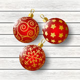 Xmas balls on wooden background. Christmas balls on wooden background Stock Photo