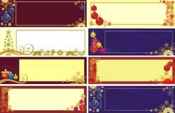 Xmas banner. Set of 8 different Xmas banner Stock Photo
