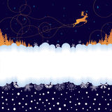 Xmas banner with reindeer Stock Image