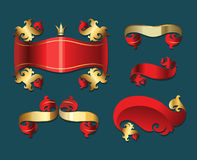 Xmas banners set. Stock Images