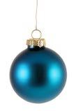 xmas bauble голубой просто Стоковые Фото