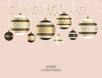 Xmas bauble ball decoration seamless pattern vector illustration Royalty Free Stock Photography