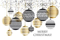 Xmas bauble ball decoration seamless pattern Stock Image