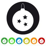 Xmas Bauble Icon - Colorful Vector Illustration - Isolated On White royalty free illustration