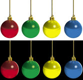 Xmas Baubles Royalty Free Stock Photography