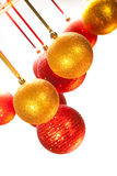 Xmas baubles on white background Stock Image
