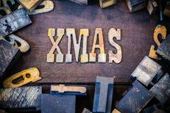 Xmas-begrepp Rusty Type Fotografering för Bildbyråer