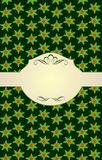 Xmas beige with holly pattern Stock Image