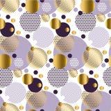 Xmas bezszwowych kropek nowożytny wzór ilustracja wektor