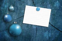 Xmas blank sheet on wooden texture Stock Photo