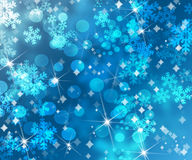 Xmas Blue background Royalty Free Stock Photos